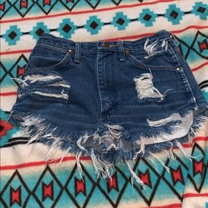 high waisted vintage wrangler shorts